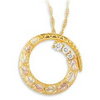 Black Hills Gold Circle Diamond Necklace