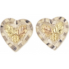 Black Hills Gold Silver Heart  Earrings