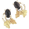 Black Hills Gold Silver Onyx  Earrings