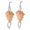 Black Hills Gold Silver Designer Leaf Earrings