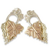 Black Hills Gold Silver Leaf Earrings