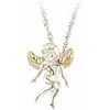 Black Hills Gold Silver Angel Necklace