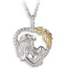 Silver Mother & Child Heart Necklace