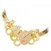 Black Hills Gold Slider Leaf Necklace