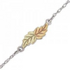 Black Hills Gold Silver Leaf Anklet (MR8074)