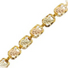 Black Hills Gold White CZ Bracelet