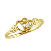 Black Hills Gold Gold Double Heart Diamond Ring