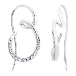 Silver Elegance-CZ Sterling Silver Earrings (SESE1157)