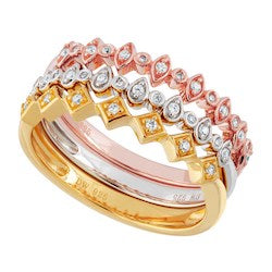 Silver Elegance-CZ Sterling Silver Stackable Ring Set (SESR1004)