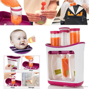 BABY FOOD SQUEEZE STATION + 10 SQUEEZE BAGS