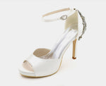 CARMEN - Platform Satin Wedding Shoes (5619833831584)