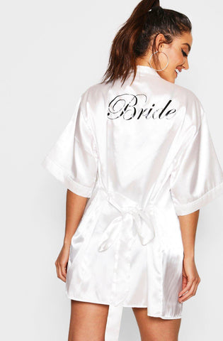 Satin Robe Bride
