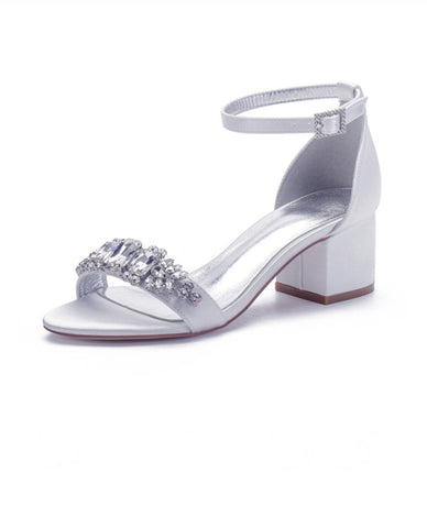 LADY - Ivory Block Heel Crystal (4580511744131)