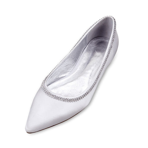 WHITE Flat Diamanté