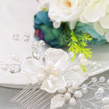 Simsly Flower Wedding Hair Comb (5345772929184)