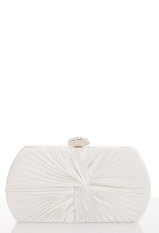 White Satin Box Bag (5300629831840)