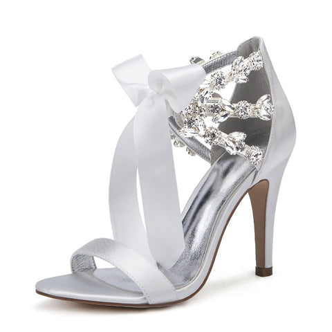 DAVINA - High Heels Crystals Wedding Bridal Sandals (5266479349920)