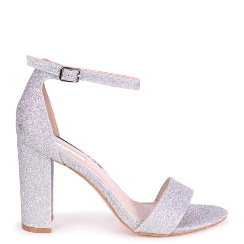 NELLY White Nappa Block Heels (2143265292355)