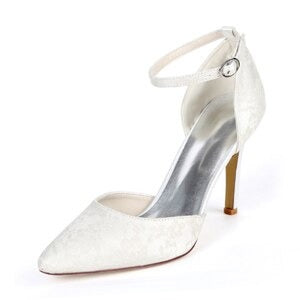 Women's Bridal Shoes Closed Toe Mid Heel (5014499590275)