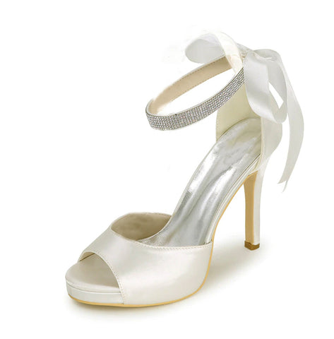 EVITA - Platform Satin Wedding Shoes (5619888259232)