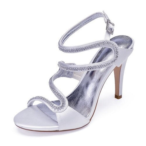 CLEARLY - SIlver Bridal Glitter Heels (5007334015107)