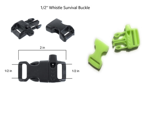 "1/2"" Whistle Survival Buckle"