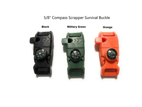 "5/8"" Compass Scraper Survival Buckle"