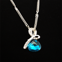 "Load image into Gallery viewer, Teardrop ""Eternal Love"" Austrian Crystal Pendant Necklace"