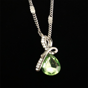 "MADARI FASHIONS - Teardrop ""Eternal Love"" Austrian Crystal Pendant Necklace"