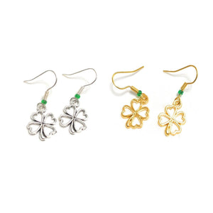 MADARI FASHIONS - Lucky 4-Leaf Clover Earrings