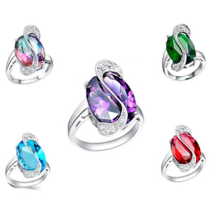 MADARI FASHIONS - Stimulated Precious Ring accented with Austrian Crystals