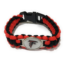 Load image into Gallery viewer, MADARI FASHIONS - Atlanta NFL Paracord Bracelet