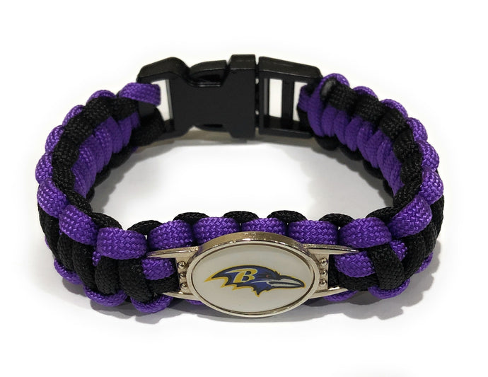 MADARI FASHIONS - Baltimore NFL Paracord Bracelet