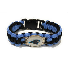 Load image into Gallery viewer, MADARI FASHIONS - Carolina NFL Paracord Bracelet