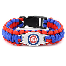 Load image into Gallery viewer, MADARI FASHIONS - Cubs MLB Paracord Bracelet