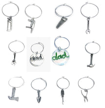 Load image into Gallery viewer, MADARI FASHIONS - Father's Day Wine Charms