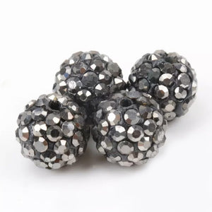 Rhinestones Clay Beads 10mm
