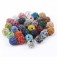 Load image into Gallery viewer, Rhinestones Clay Beads 10mm