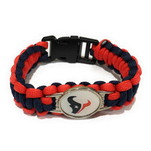 Load image into Gallery viewer, MADARI FASHIONS - Houston NFL Paracord Bracelet
