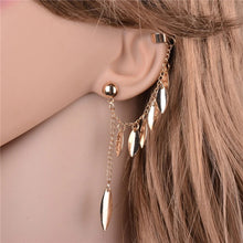 Load image into Gallery viewer, MADARI FASHIONS - Leaf Earring Cuff Dangles