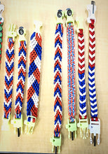 Load image into Gallery viewer, MADARI FASHIONS - Paracord RED, WHITE, & Blue Bracelets