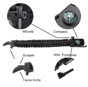 #Choose your Survival Buckle_Twine Knife Compass Survival Buckle