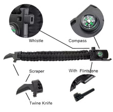 Load image into Gallery viewer, #Choose your Survival Buckle_Twine Knife Compass Survival Buckle