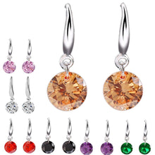 Load image into Gallery viewer, MADARI FASHIONS - Brilliant Round Dangles