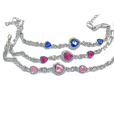 MADARI FASHIONS - Royal Heart Crystal Rhinestone Bracelet