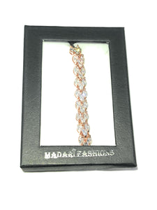 MADARI FASHIONS - Marquise Heart Arrow Adjustable Bracelet