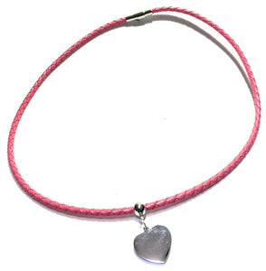 MADARI FASHIONS - Leather Braided Heart Charm Bracelet