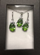 Load image into Gallery viewer, MADARI FASHIONS - Sterling Silver Water Drop Austrian Crystals Set