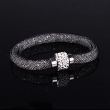 Load image into Gallery viewer, MADARI FASHIONS - Austrian Crystal Mesh Bracelet