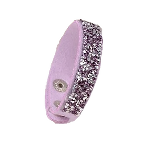MADARI FASHIONS - Faux Leather Wrap Bracelet with Austrian Crystals